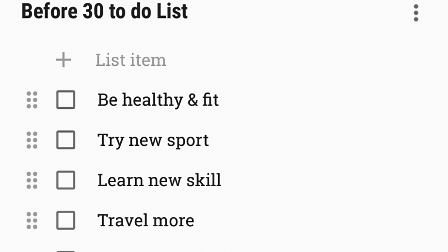 First post: let's talk about the Before Your30list